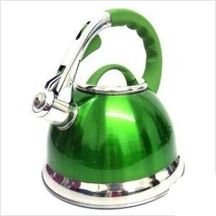 Prima Green Whistling Kettle